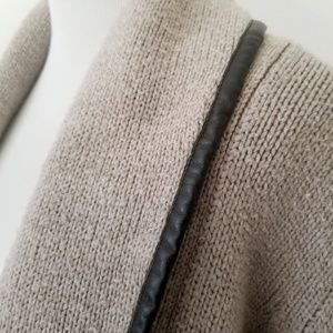 Merona Sweaters - Merona Cardigan with Faux Leather Detailing